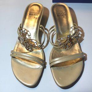 NWT Stuart Weitzman crystal sandal heels